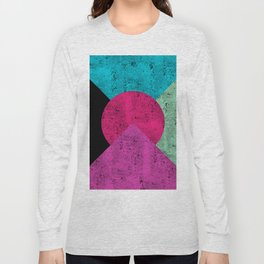 Colorful Abstract Geometric Background Long Sleeve T-shirt