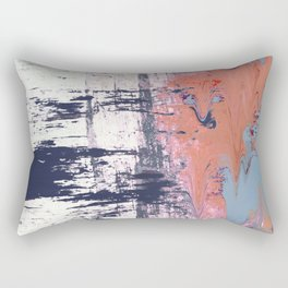 Leap of Faith: colorful abstract piece in blues, pinks, and gold Rectangular Pillow