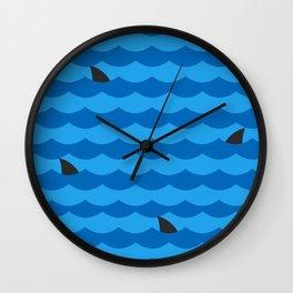 Ocean of Sharks Wall Clock
