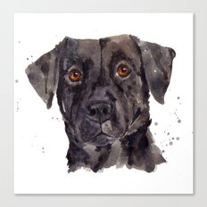 LABRADOR painting, dog painting, watercolor dogs, Black Lab art Canvas Print