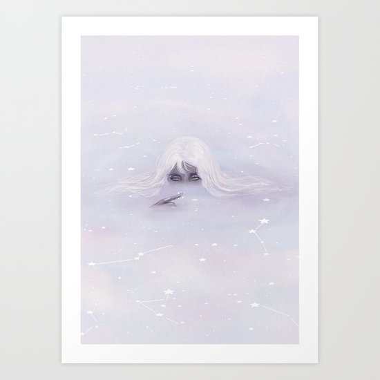 Ocean of clouds Art Print