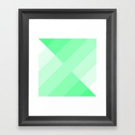 green and white gradient Framed Art Print