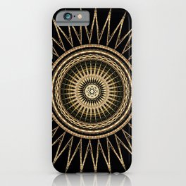 Gold Dust Mandala iPhone Case