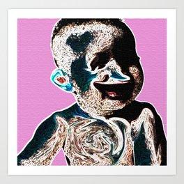 Baby Squeeze Art Print