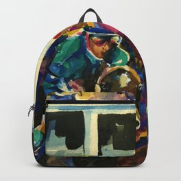 The Race No. 2B by Kathy Morton Stanion Backpack