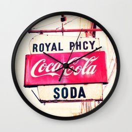 Royal Pharmacy Vintage Sign - New Orleans Wall Clock