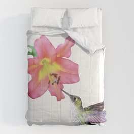 Hummingbird and Day Lily Comforters