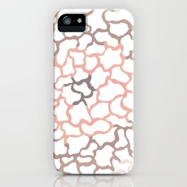 abstract shades of brown iPhone Case