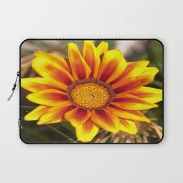 Southern African ❁ Yellow Gazania Flower  Laptop Sleeve