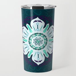 Rock Climbing Mandala Travel Mug