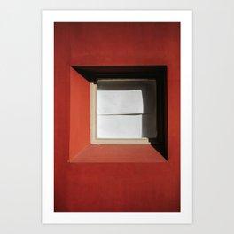 minimal red #2 Art Print