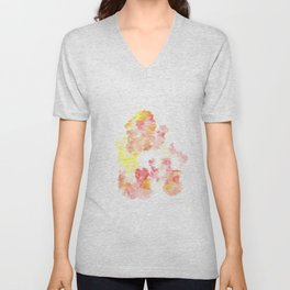 Bright Me Up and Ease Me In  |Modern Watercolor Art | Abstract Watercolors Unisex V-Neck