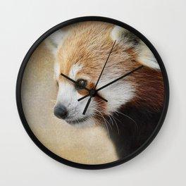 Red Panda Watching - Wildlife Wall Clock