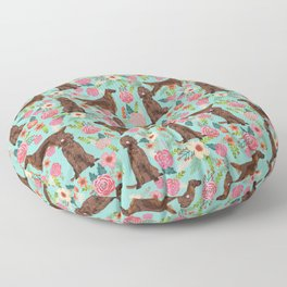 Irish Setter dog breed floral pattern gifts for dog lovers irish setters Floor Pillow