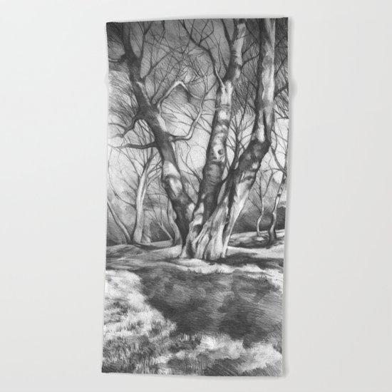Musing of Trees Beach Towel