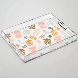 Seaweeds and sand Acrylic Tray