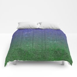 Nightfall Forest Glitter Gradient Comforters