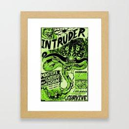 "INTRUDER ""Fear Keeps Them Here"" Framed Art Print"