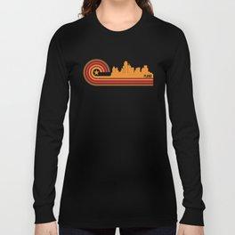 Retro Plano Texas Skyline Long Sleeve T-shirt