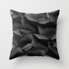 Black Fade Cubes Throw Pillow