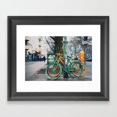 blame it on the rain Framed Art Print
