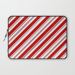 winter holiday xmas red white striped peppermint candy cane Laptop Sleeve