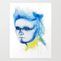 Metamorphosis-Blue Tit Art Print