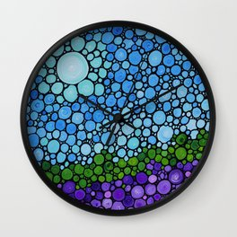 Lavender Fields - France French Landscape Art Wall Clock