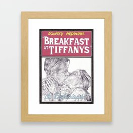 BREAKFAST AT TIFFANYS hand drawn movie poster in pencil Framed Art Print
