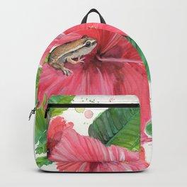 Coqui Frog & Hibiscus Flower Backpack