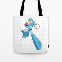 mega man Tote Bags featuring Mega-Man by HypersVE