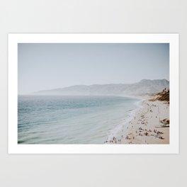 coast v / malibu, california Art Print