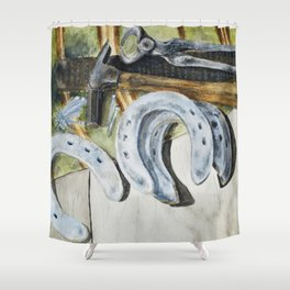 A Farrier's Tools Shower Curtain