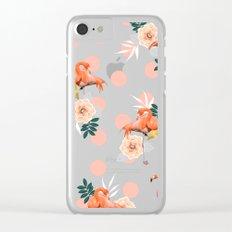 Flamingo Jazz #society6 #decor #pattern Clear iPhone Case