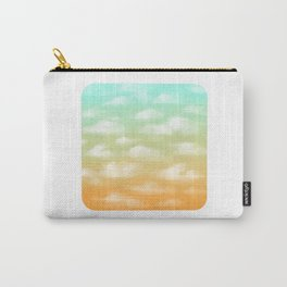 Soft Blue and Orange Sunset Sky Carry-All Pouch