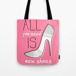 Girly Shoes #grl Tote Bag