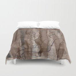 Kiss Me - Vintage - Modern Art Abstract - Picasso Style Duvet Cover