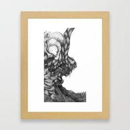 Bear in forest Framed Art Print