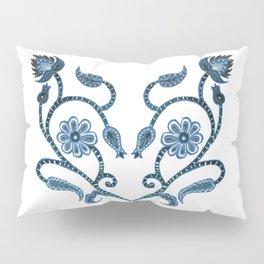 Blue Paisley Heart Pillow Sham