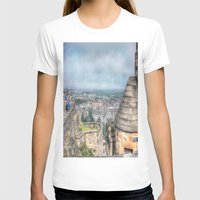 edinburgh T-shirts featuring Edinburgh Castle by Christine Workman