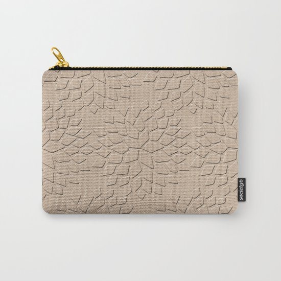 Leather Look Petal Pattern - Pale Dogwood Color Carry-All Pouch