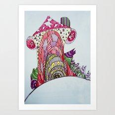 funny house Art Print
