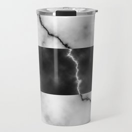 Black and white marble texture 10 Travel Mug