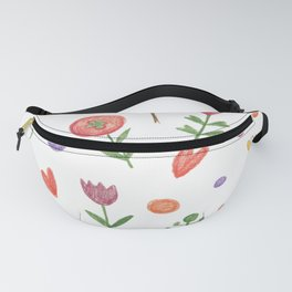Cute hand drawn flowers pattern Fanny Pack