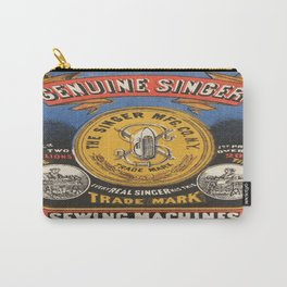 Vintage poster - Singer Sewing Machine Carry-All Pouch