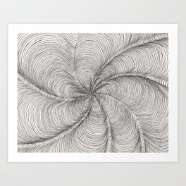Wormhole Canyon Art Print