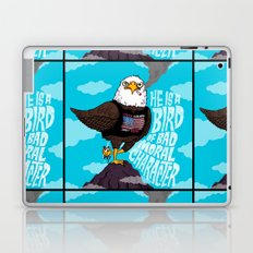 He is a Bird of Mad Moral Character Laptop & iPad Skin