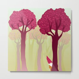 colorful forest with cute dwarf Metal Print