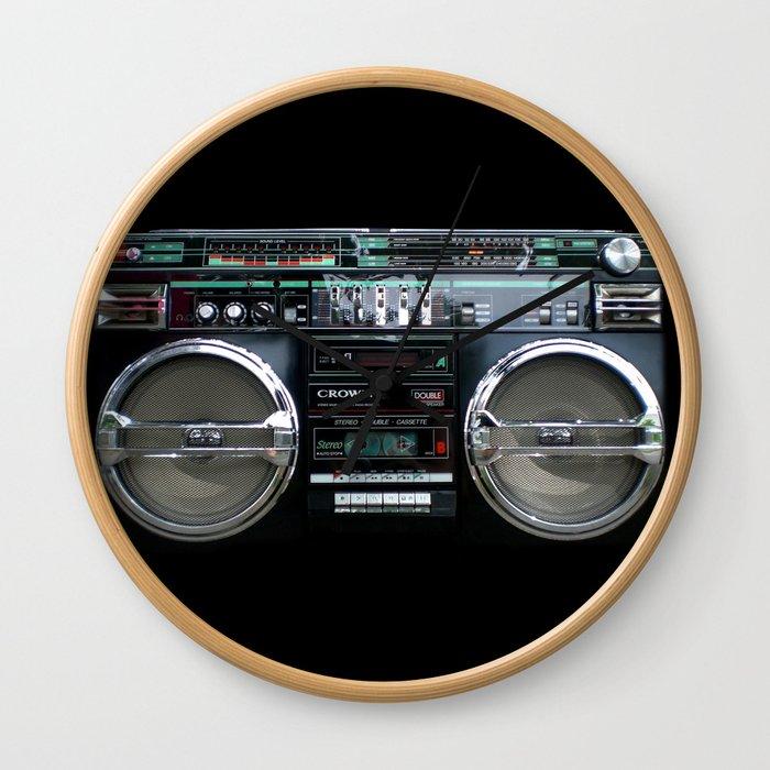 Retro 80's objects - Guetto Blaster Wall Clock