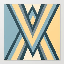 Colored triangles Canvas Print